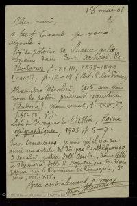 lettre-blanchet-dechelette-18-mai-1903